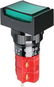 Фото 1/2 D16LMT2-2abJG, Кнопка с LED подсветкой 250В/5А
