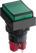 Фото 1/2 D16LMT1-1abKG, Кнопка с подсветкой 250В/5А