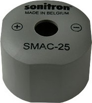 Фото 1/2 SMAC-25-P15, 25 мм, Пьезоизлучатель с генератором