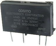 KSD203AC2, Реле твердотельное 4-32VDC, 250VAC