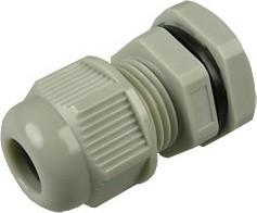 1001PG908-G (PGB9-09G), Ввод кабельный, полиамид, серый