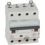 Выключатель автоматический дифференциального тока 4п C 16А 30мА тип AC 10кА DX3 ...
