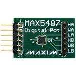 MAX5487PMB1#, Оценочная плата, цифровой потенциометр, 256 витков, двойной ...