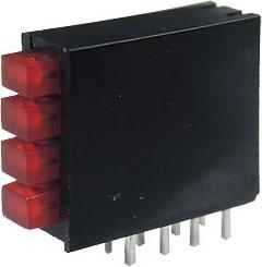 L-914CK/4IDT, 4 светодиод в корпусе красный 2x3мм
