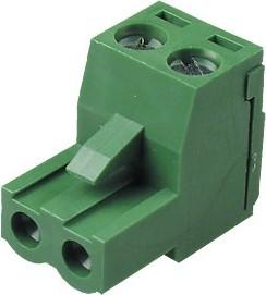 MC100-508-02P, клеммник винтовой, 2-контактный, 5.08мм, угловой