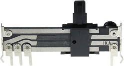 Фото 1/2 NSL205G-A1K, 2 х 1 кОм, Резистор переменный движковый