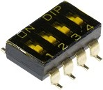 SBS1004 (ВДМ1-4) (SDMR-04-T), Переключатель DIP SMD, 4 контактных групп