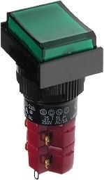 D16LMT1-2abHG, Кнопка с LED подсветкой 250В/5А