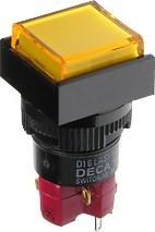 Фото 1/2 D16LMS1-1ab0Y (без лампы), Кнопка без фиксации (5A 250VAC), без подсветки