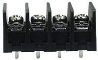T31-BM11-04, клеммник барьерный 4конт. 7,62мм