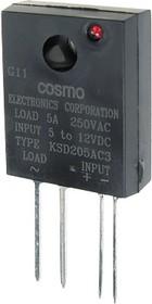 KSD205AC3, Реле твердотельное 5-12VDC, 280VAC
