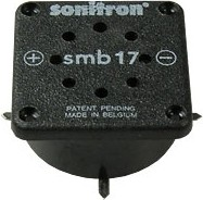 Фото 1/2 SMB-17CC-S, 17 мм, Пьезоизлучатель с генератором, SMD