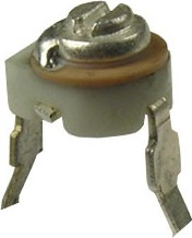 Фото 1/2 CTC 038-03RA, 1.2-3 пФ, d=4 мм, Конденсатор подстроечный