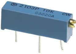 Фото 1/2 PV23P204, 200 кОм (аналог 3006P-1-204), Резистор подстроечный