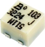 Фото 1/2 3224J-1-103E, 10 кОм, 11 оборотов, Резистор подстроечный