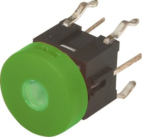 TC002N11ARXNUGUR, Кнопка без фиксации с подсветкой (зеленая/красная)