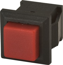 PBS-15CR, Кнопка квадратная ON-(OFF) (1A 250VAC), красная 8.8х8.8мм