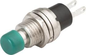 PBS10C-2 green, Кнопка без фиксации ON-(OFF) (1A 250VAC), зеленая