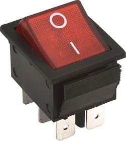 RS-202-3C3 красный, Переключатель ON-ON (15A 250VAC) DPDT 6P