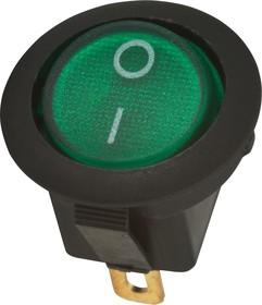 MIRS-101A-8C3 (зеленый), Переключатель с подсветкой ON-OFF (10A 125VAC, 6.5A 250VAC, 15A 12VDC) SPST 3P