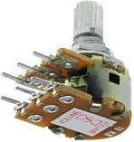 16T1-B50K, L15KC, 50 кОм, Резистор переменный центральная фиксация
