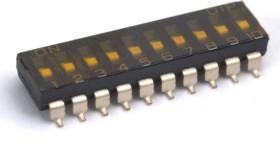 SBS1010 (ВДМ1-10) (SDMR-10-T), Переключатель DIP SMD, 10 контактных групп