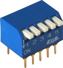 Фото 1/2 SWD3-5 (ВДМ1-5), Переключатель DIP угловой, 5 контактных групп