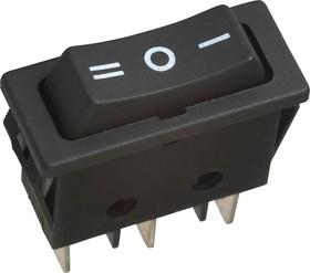 RS-123-11C0 (черный), Переключатель (ON)-OFF-(ON) (20A 125VAC) SPDT 3P