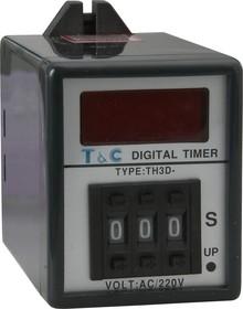 TH3D-A-999S-220VAC, Таймер 1-999 секунд