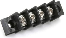 Фото 1/2 X977T04, Клеммник с отверстием 4-контактный шаг 7.62мм