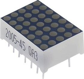 TA07-11GWA, 18мм светодиодная матрица 5х7 зеленая ОА, 8мКд