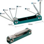 8PK-021S, Набор ключей-шестигранников и отверток (7шт.,складной)