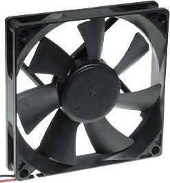 JF0815B1H, Вентилятор 12В, 80х80х15мм, подшипник качения 3000 об/мин
