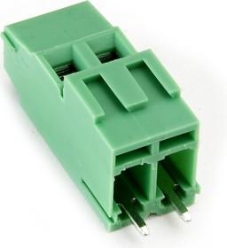 KLS2-128IH-5.00-02P-4S (EEK500V-02P), Клеммник винтовой 2-контактный, 5мм, прямой