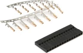 BLS-15 (DS1071 - 1x15), Гнездо на кабель 1х15 с контактами 2.54мм | купить в розницу и оптом