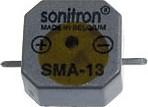 SMA-13LC-S, 13 мм, Пьезоизлучатель с генератором, SMD