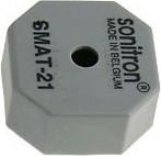 Фото 1/2 SMAT-21-S, 21 мм, Пьезоизлучатель без генератора, SMD