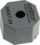 Фото 1/2 SMAT-24-S, 24 мм, Пьезоизлучатель без генератора, SMD