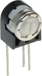 Фото 1/2 PV32T101, 3321T-1-101 100Ом (СП3-19б), резистор подстроечный