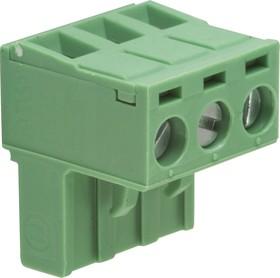 KLS2-EDK-5.08-03P-4S (2ESDV-03P), Клеммник 3-контактный, 5.08мм, прямой