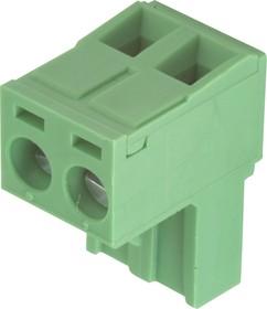 KLS2-EDK-5.08-02P-4S (2ESDV-02P) (2EDGK-5.08-02P), Клеммник угловой, шаг 5.08мм, 2 контакта (15A 300V)