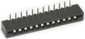 FPC-12R (DS1020-12 R), Гнездо угловое на сверхплоский шлейф 12 контактов