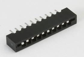FPC-10S (DS1020-10 S), Гнездо прямое на сверхплоский шлейф 10 контактов