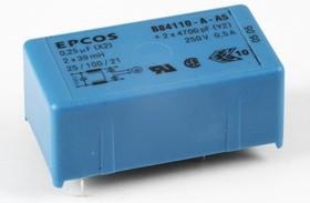 B84110-A-A5, 2x0.5 A, 250 В, Сетевой фильтр