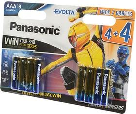 Фото 1/2 Panasonic EVOLTA LR03 4+4шт Power Rangers BL8, Элемент питания