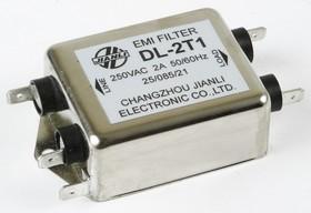 DL-2T1, 2А, 250В, Сетевой фильтр