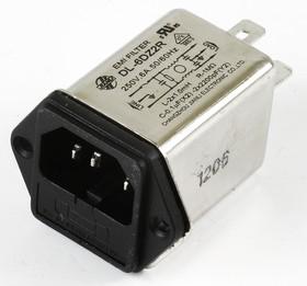 DL-6DZ2R, 6А, 250В, Сетевой фильтр