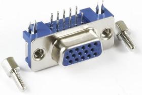 DHR15FS (DS1038-01-15F), Гнездо укороченное 15 pin высокой плотности на плату