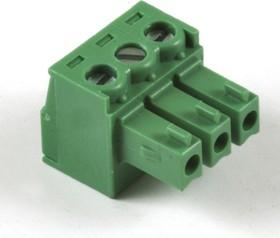 KLS2-EDK-3.81-03P-4S (EC381V-03P), Клеммник винтовой 3-контактный, 3.81мм, прямой