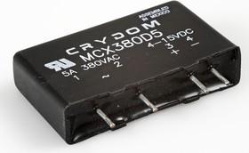 MCX380D5, Реле 4-15VDC, 5A/380VAC